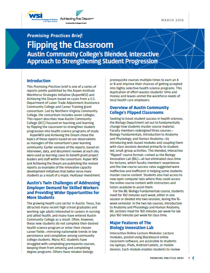 Promising Practices - Flipping the Classroom