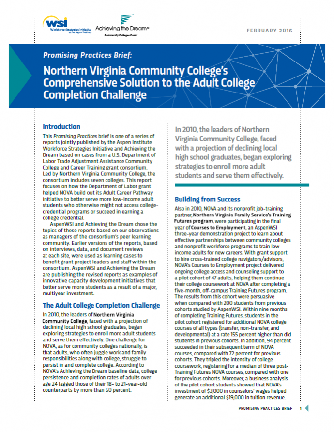 Promising Practices - Northern Virginia Community College